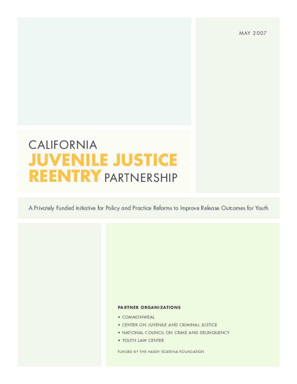 California Juvenile Justice Reentry Partnership