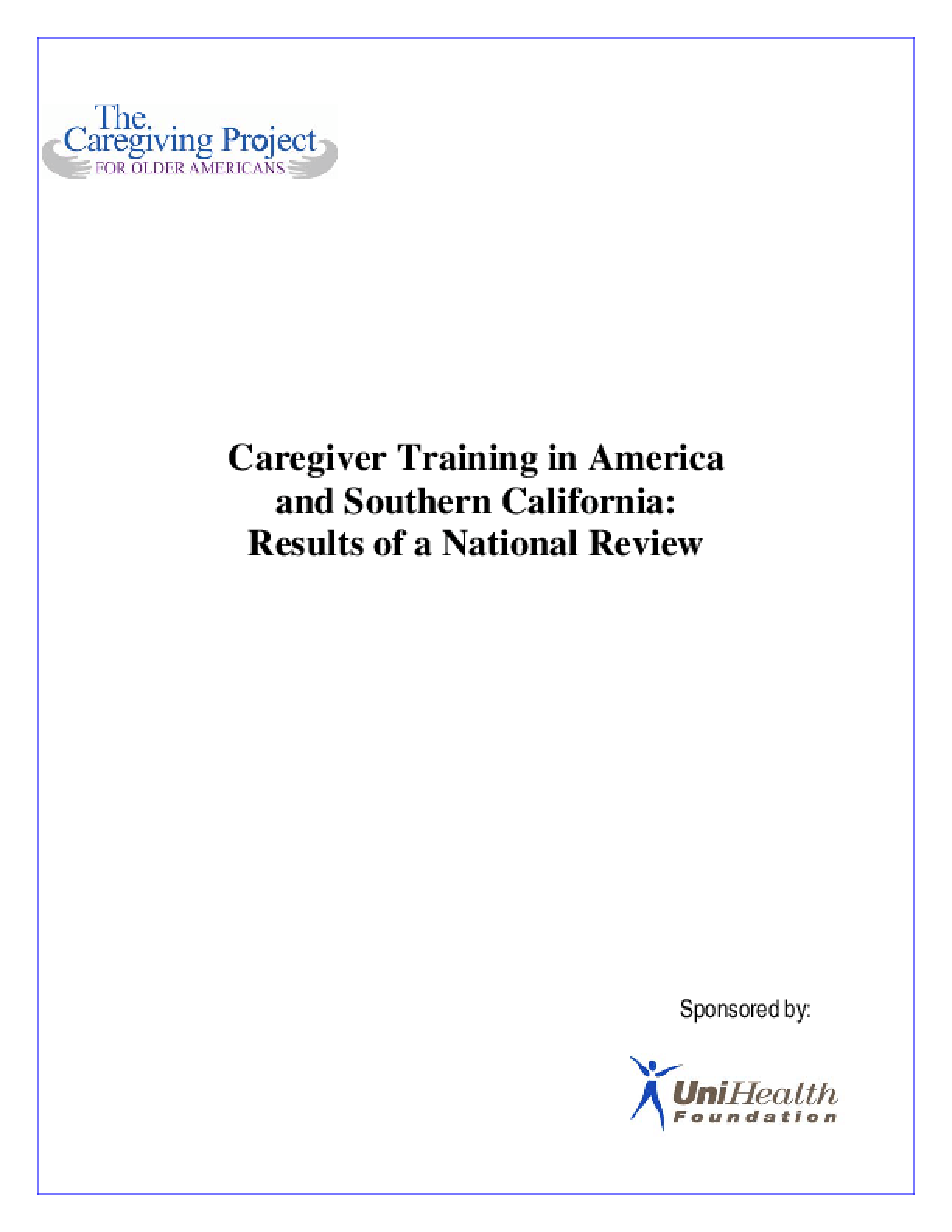 Caregiving Training in America & Southern California