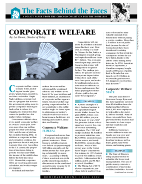Corporate Welfare