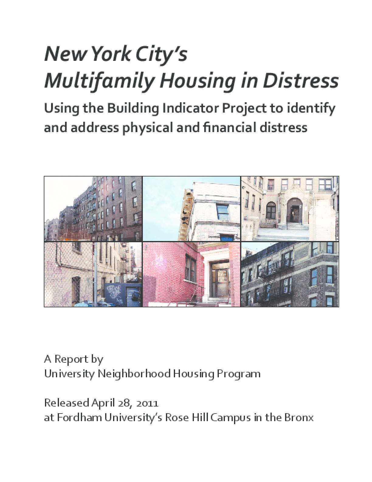 New York City's Multifamily Housing in Distress