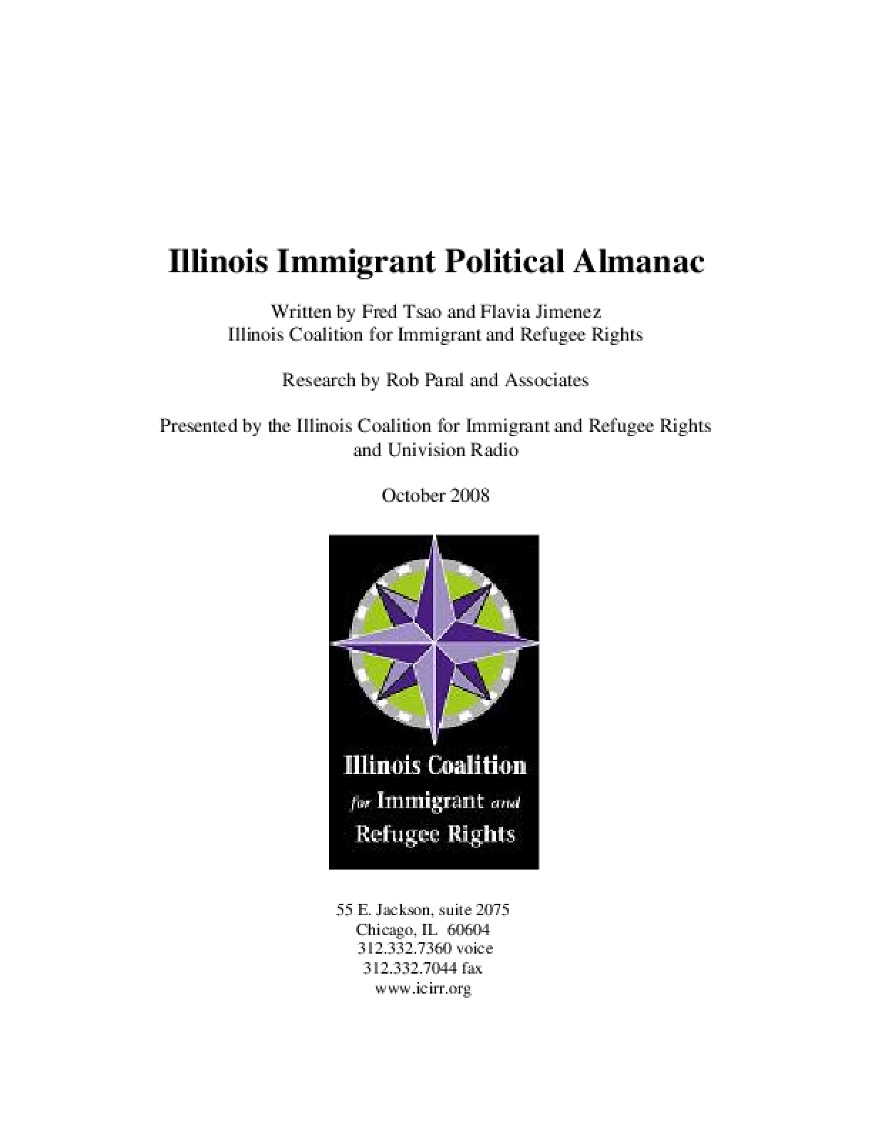 Illinois Immigrant Political Almanac