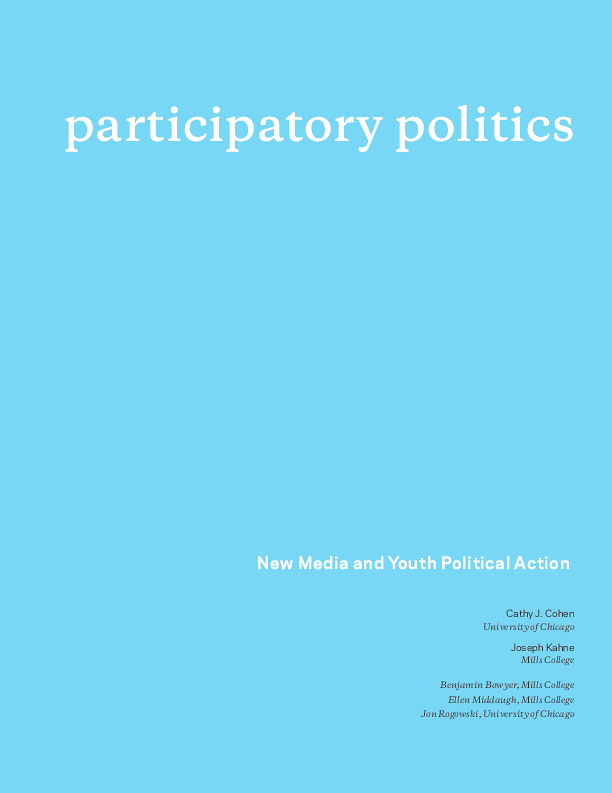 New Media and Youth Political Action