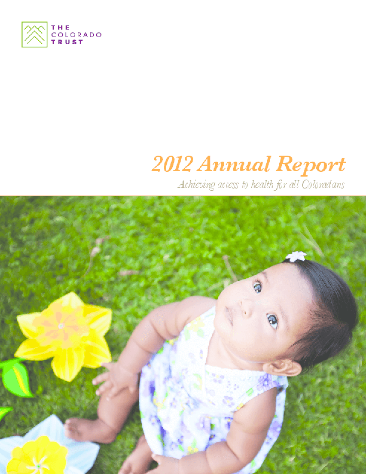 2012 Annual Report: Achieving Access to Health for All Coloradans