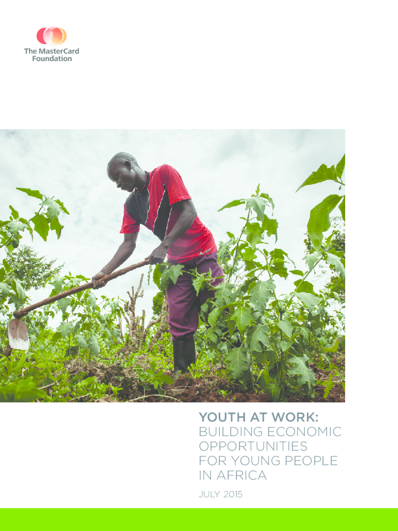 Youth at Work: Building Economic Opportunities for Young People in Africa