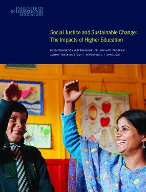 Social Justice and Sustainable Change : The Impacts of Higher Education