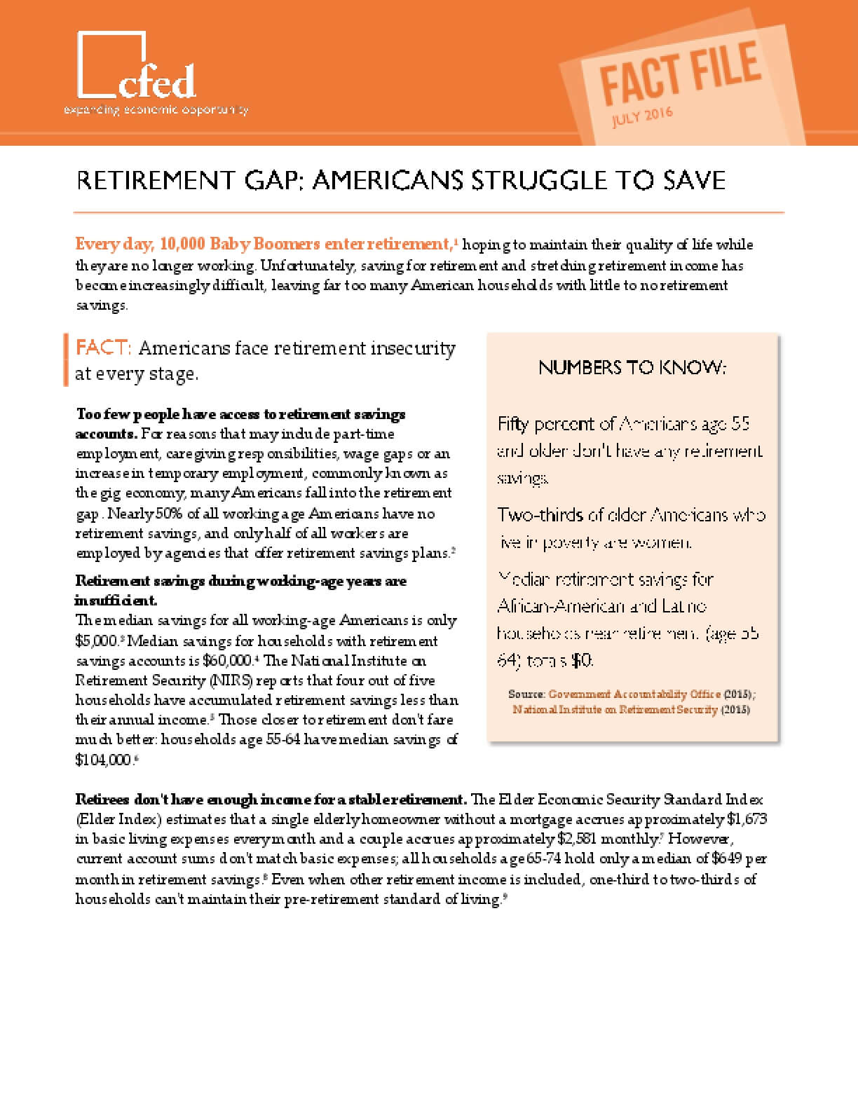 Retirement Gap: Americans Struggle to Save
