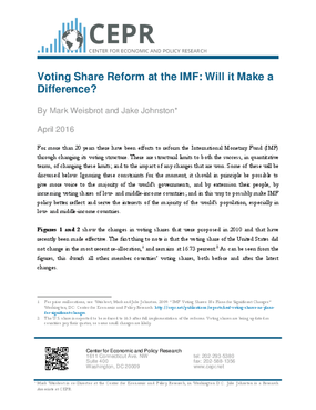 Voting Share Reform at the IMF: Will it Make a Difference?
