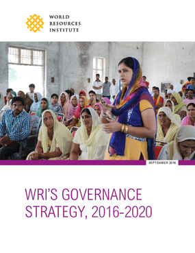 WRI's Governance Strategy, 2016-2020