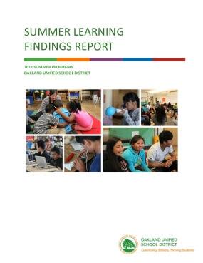 Summer Learning Findings Report: 2017 Summer Programs