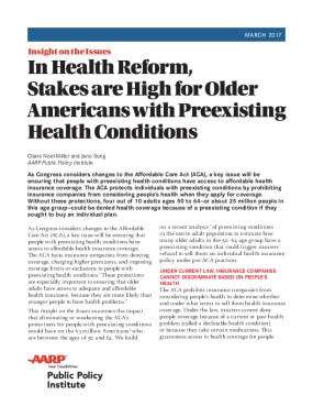 In Health Reform, Stakes are High for Older Americans with Preexisting Health Conditions