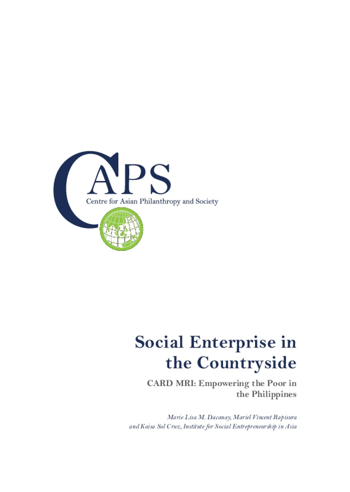 Social Enterprise in the Countryside