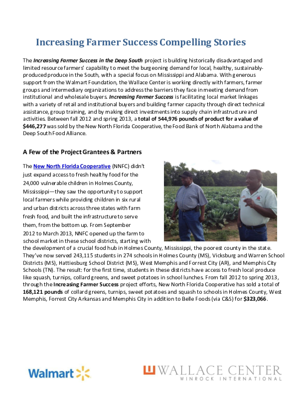 Increasing Farmer Success: Compelling Stories