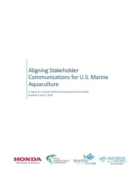 Aligning Stakeholder Communications for U.S. Marine  Aquaculture