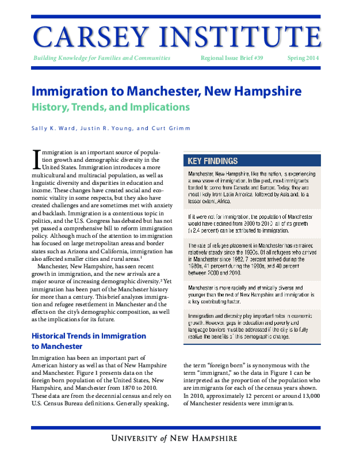 Immigration to Manchester, New Hampshire