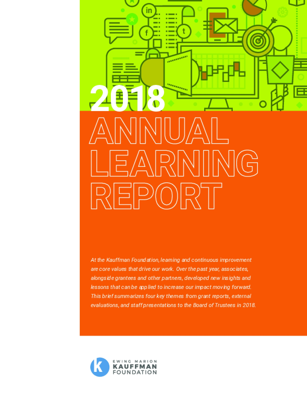 2018 Annual Learning Report