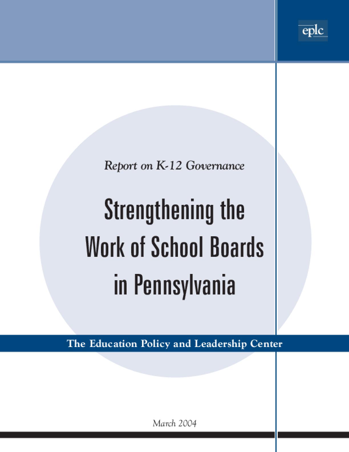 Strengthening the Work of School Boards in Pennsylvania