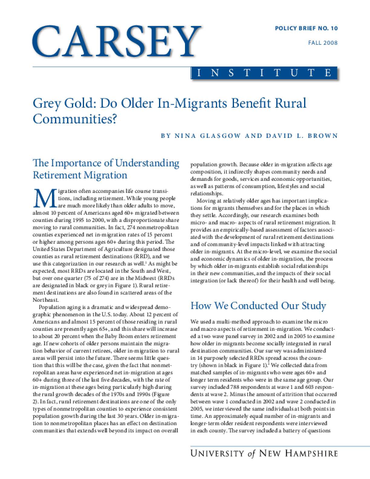 Grey Gold: Do Older In-migrants Benefit Rural Communities?