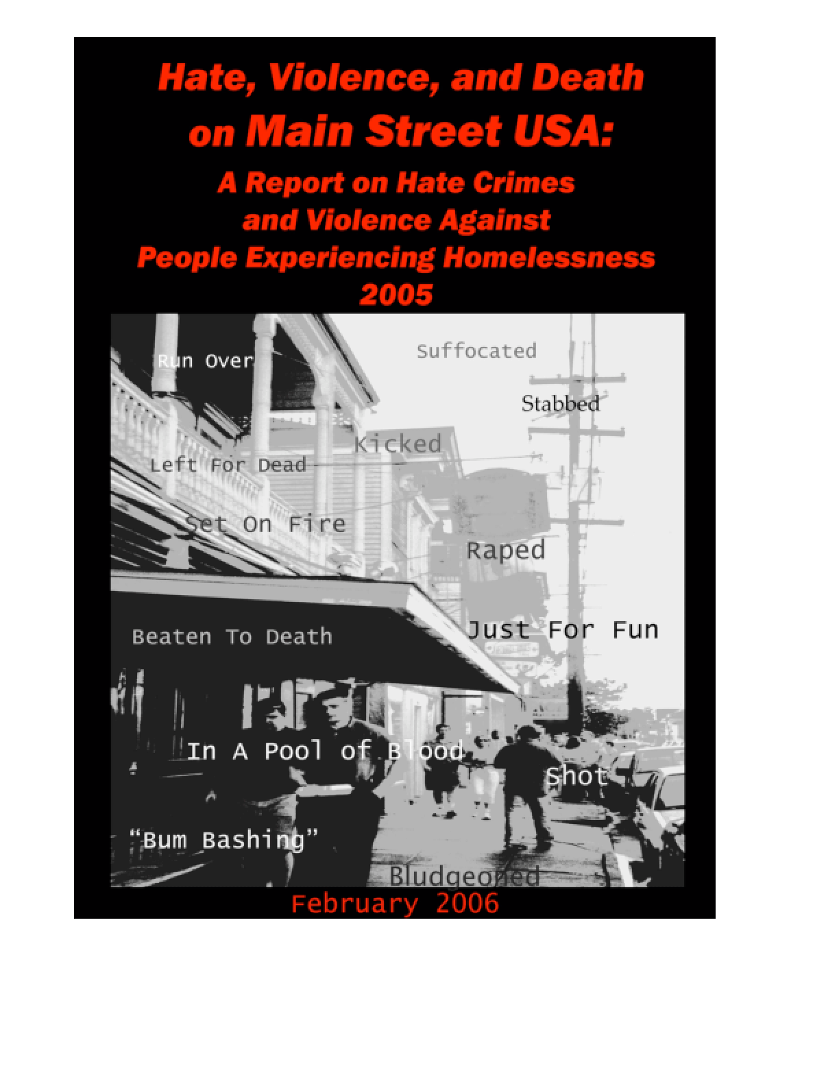 Hate Crimes and Violence Against People Experiencing Homelessness 2005