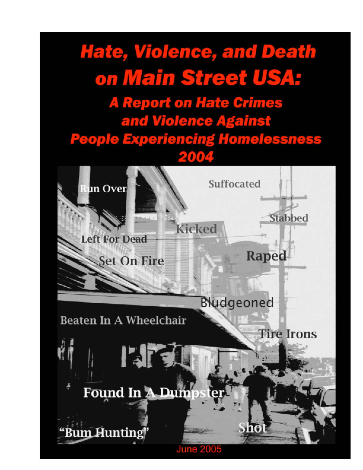 Hate Crimes and Violence Against People Experiencing Homelessness 2004