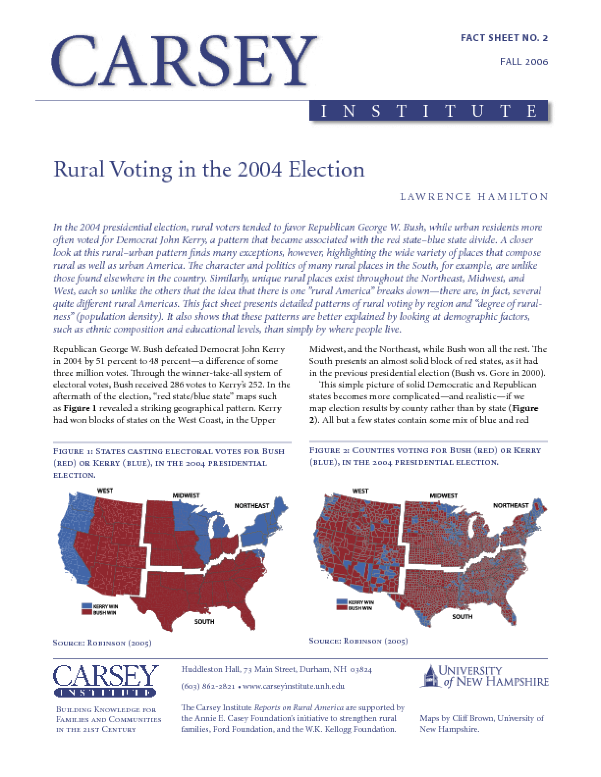 Rural Voting in the 2004 Election