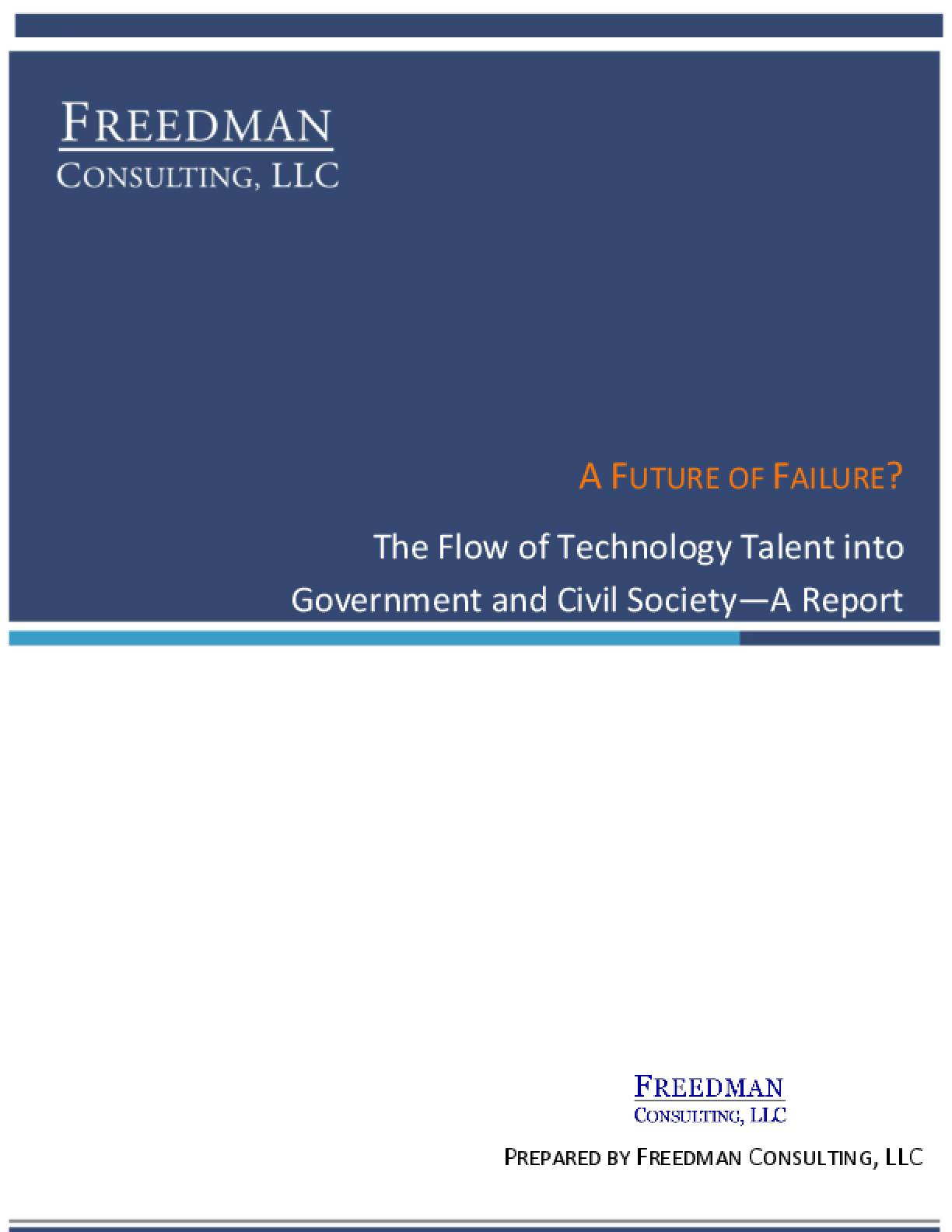 A Future of Failure? The Flow of Technology Talent into Government and Civil Society
