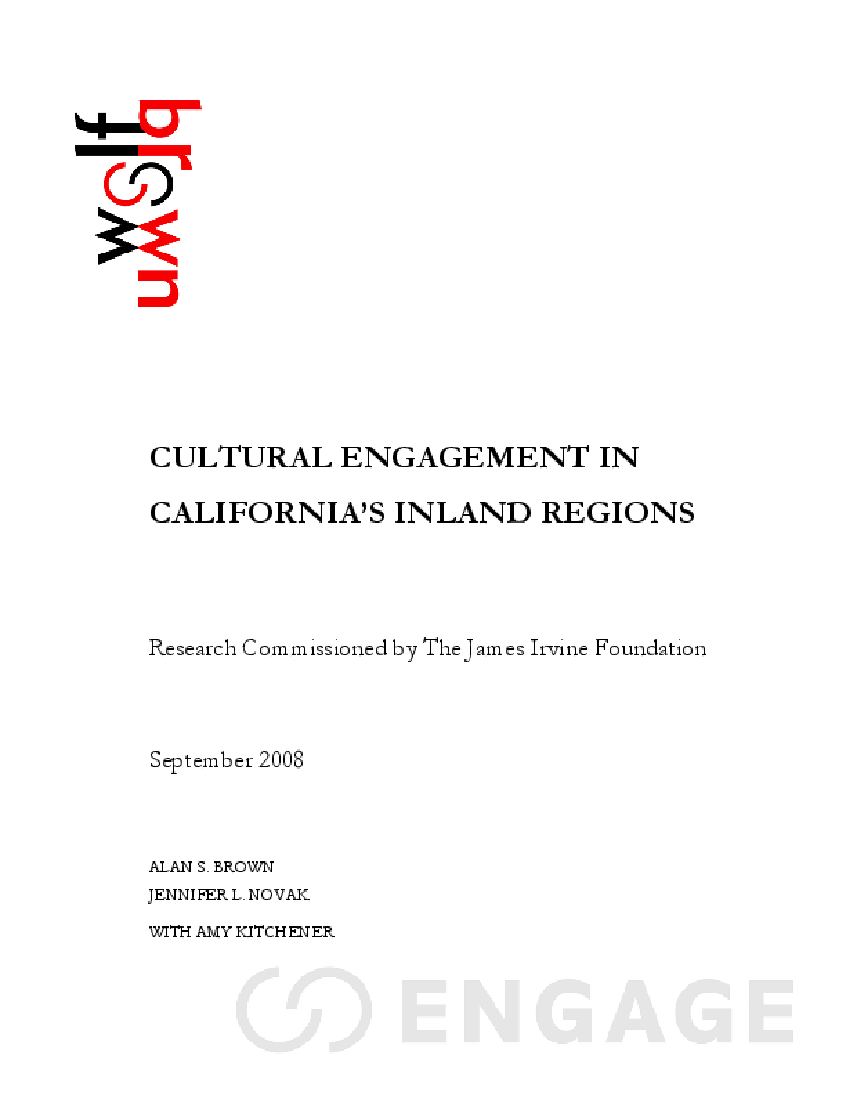 Cultural Engagement in California's Inland Regions