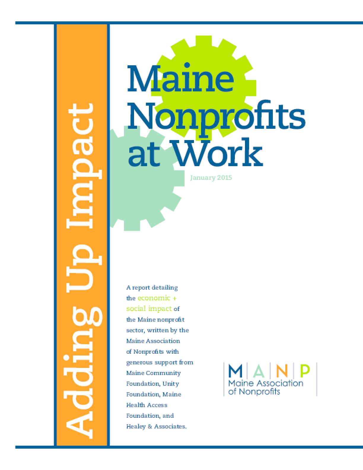 Maine Nonprofits at Work