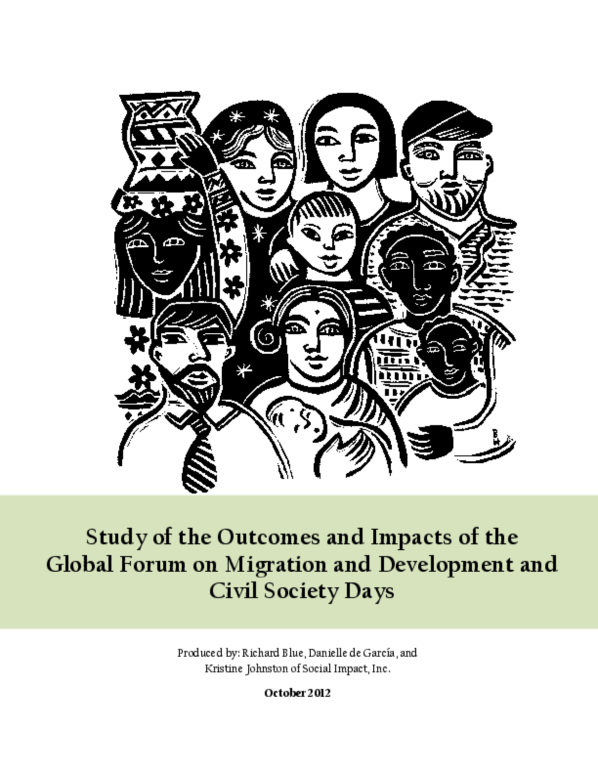 Study of the Outcomes and Impacts of the Global Forum on Migration and Development and Civil Society Days