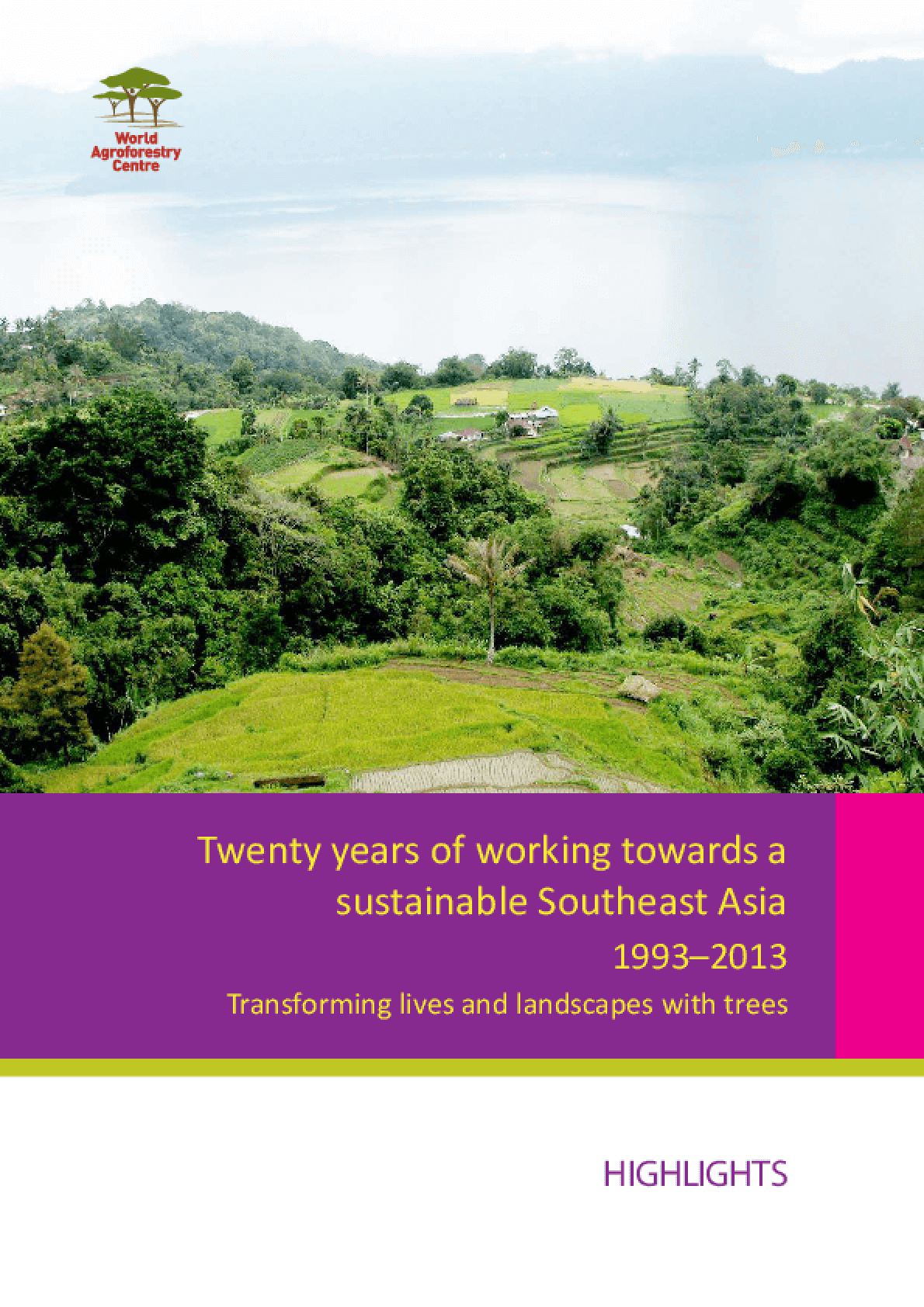 Twenty Years of Working Towards a Sustainable Southeast Asia: 1993 -- 2013