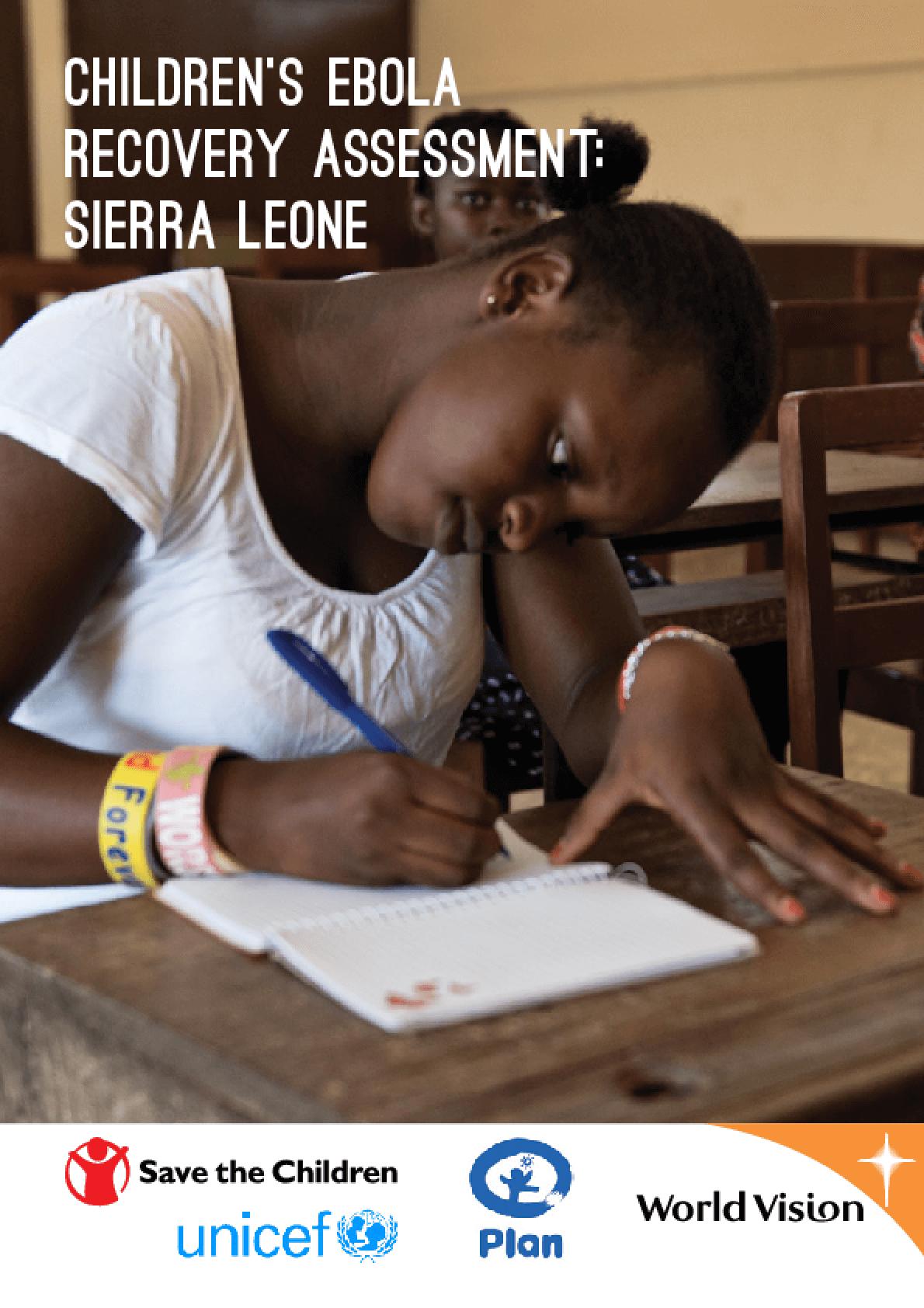Children's Ebola Recovery Assessment: Sierra Leone
