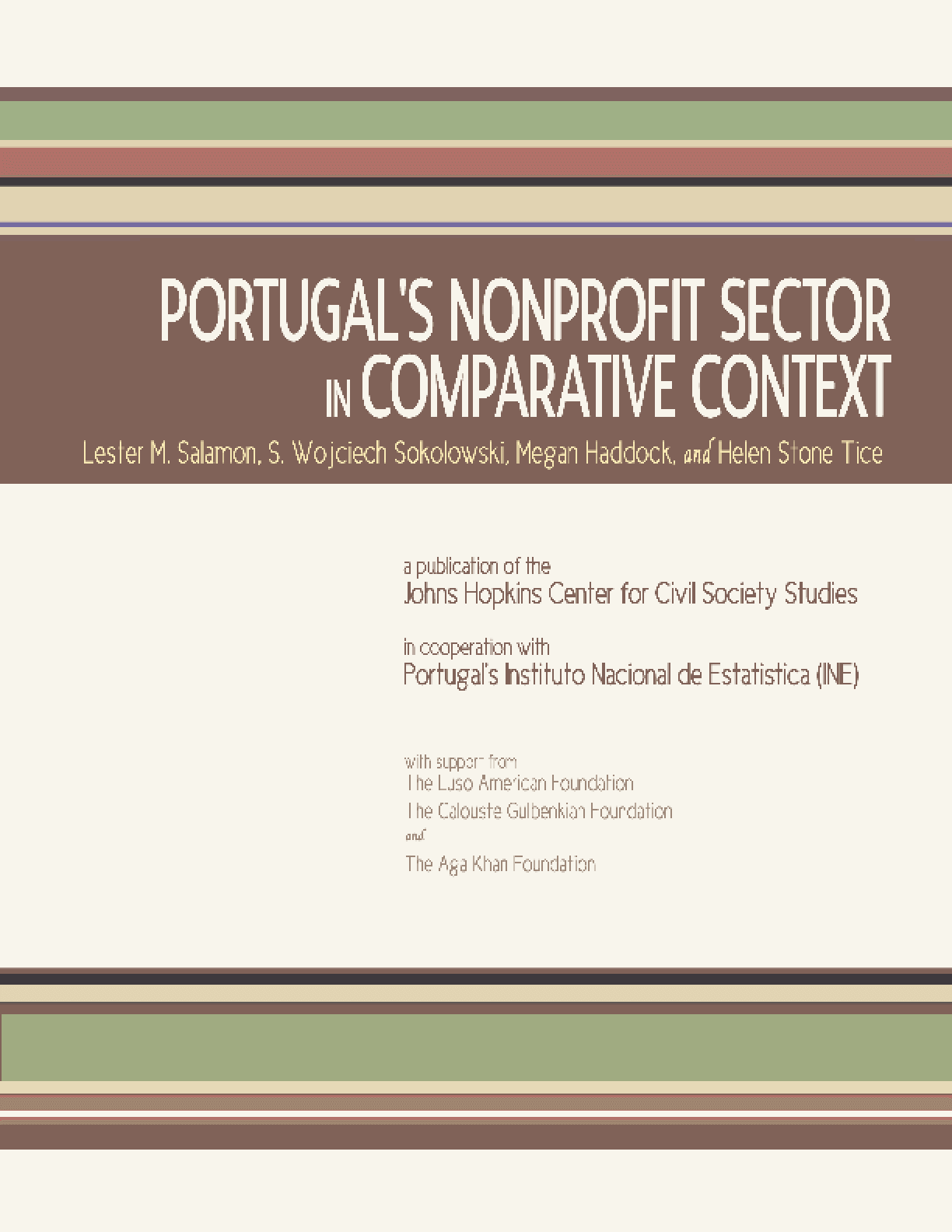 Portugal's Nonprofit Sector in Comparative Context