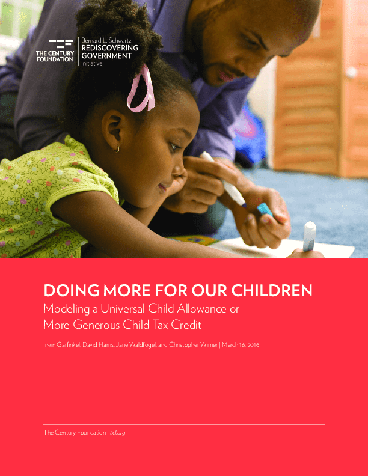 Doing More for Our Children: Modeling a Universal Child Allowance or More Generous Child Tax Credit