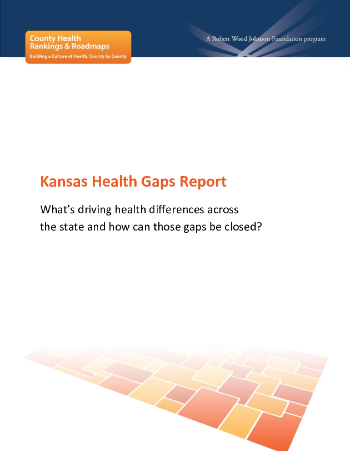 Kansas Health Gaps Report: What's Driving Health Differences Across the State and How Can Those Gaps Be Closed?