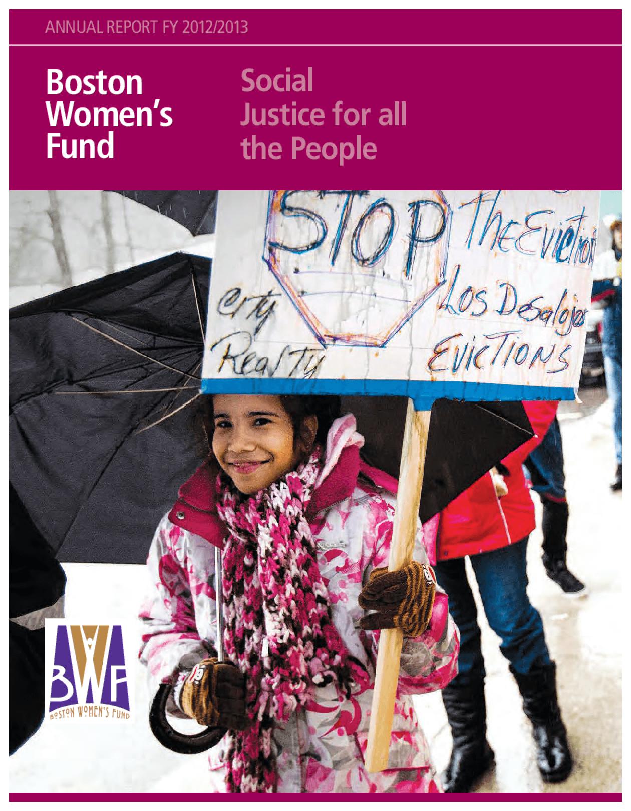 Boston Women's Fund Annual Report FY 2012/13