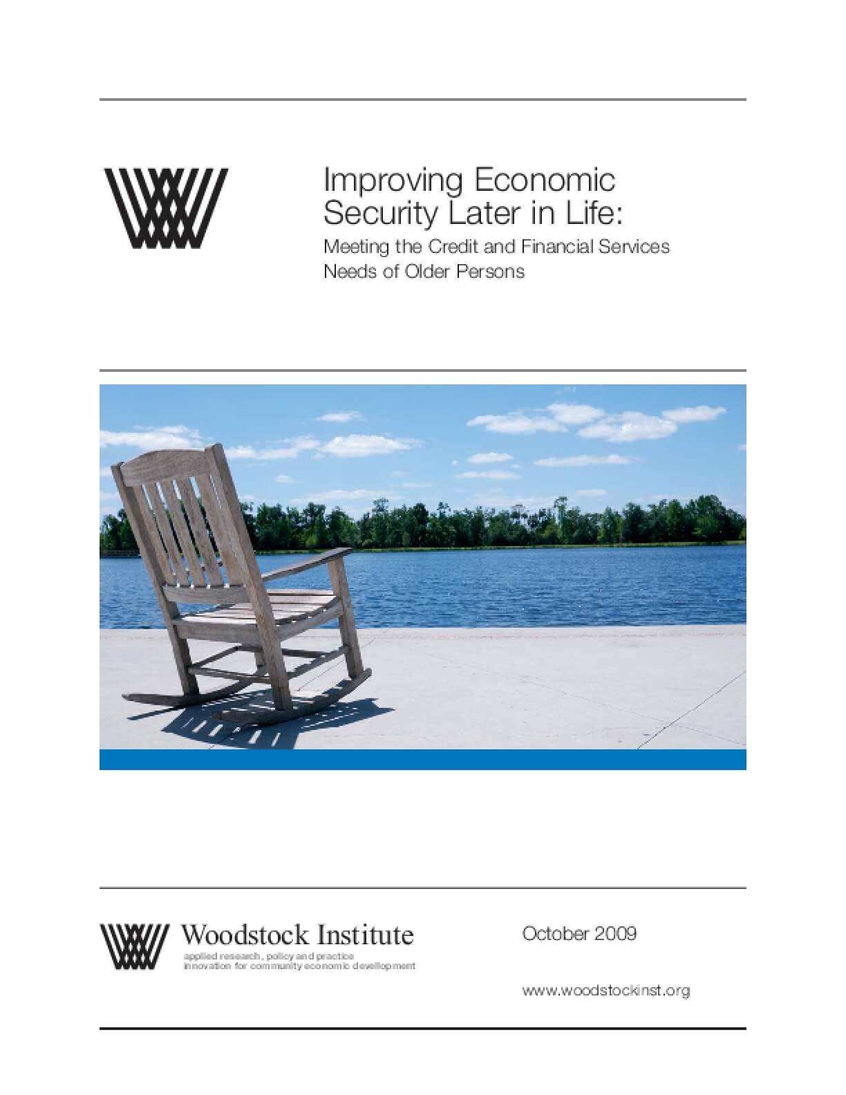 Improving Economic Security Later in Life: Meeting the Credit and Financial Services Needs of Older Persons