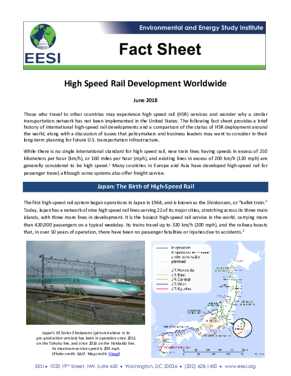 High Speed Rail Development Worldwide