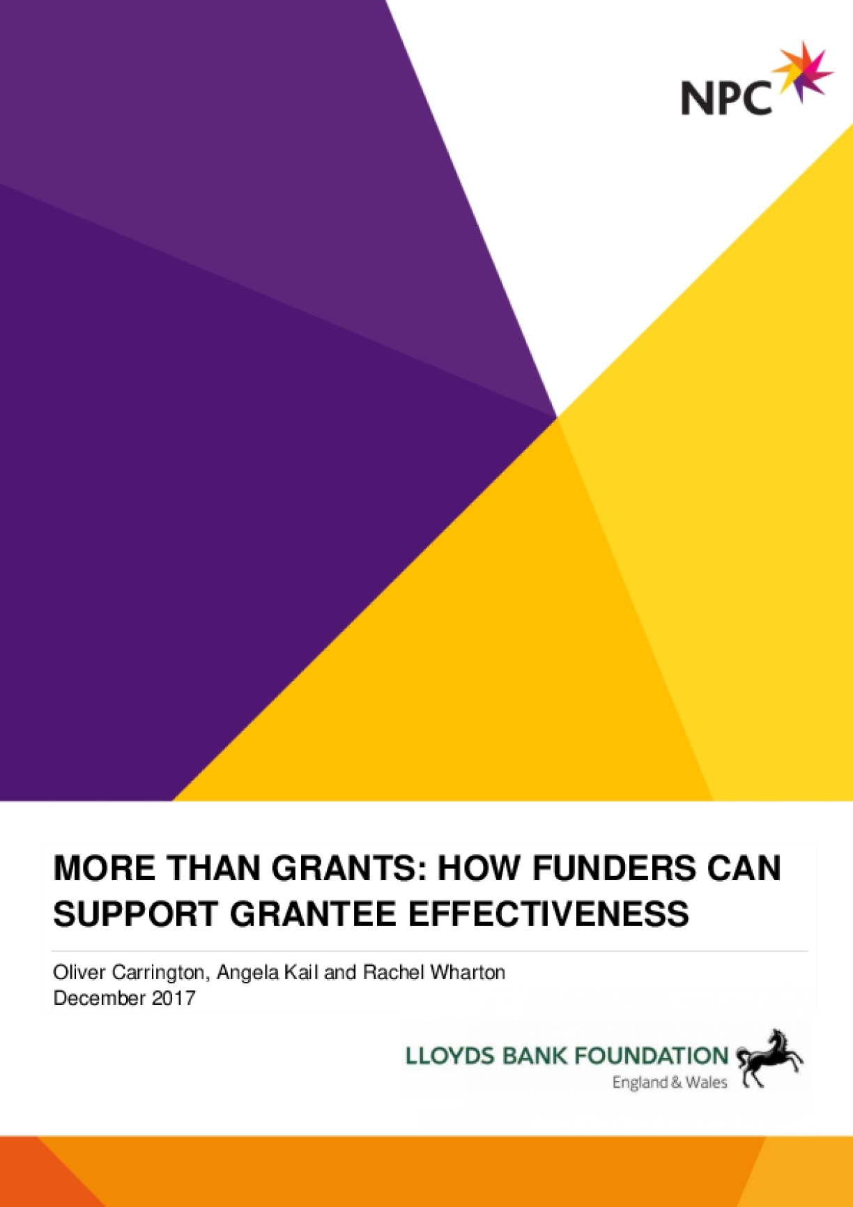 More than Grants: How Funders Can Support Grantee Effectiveness