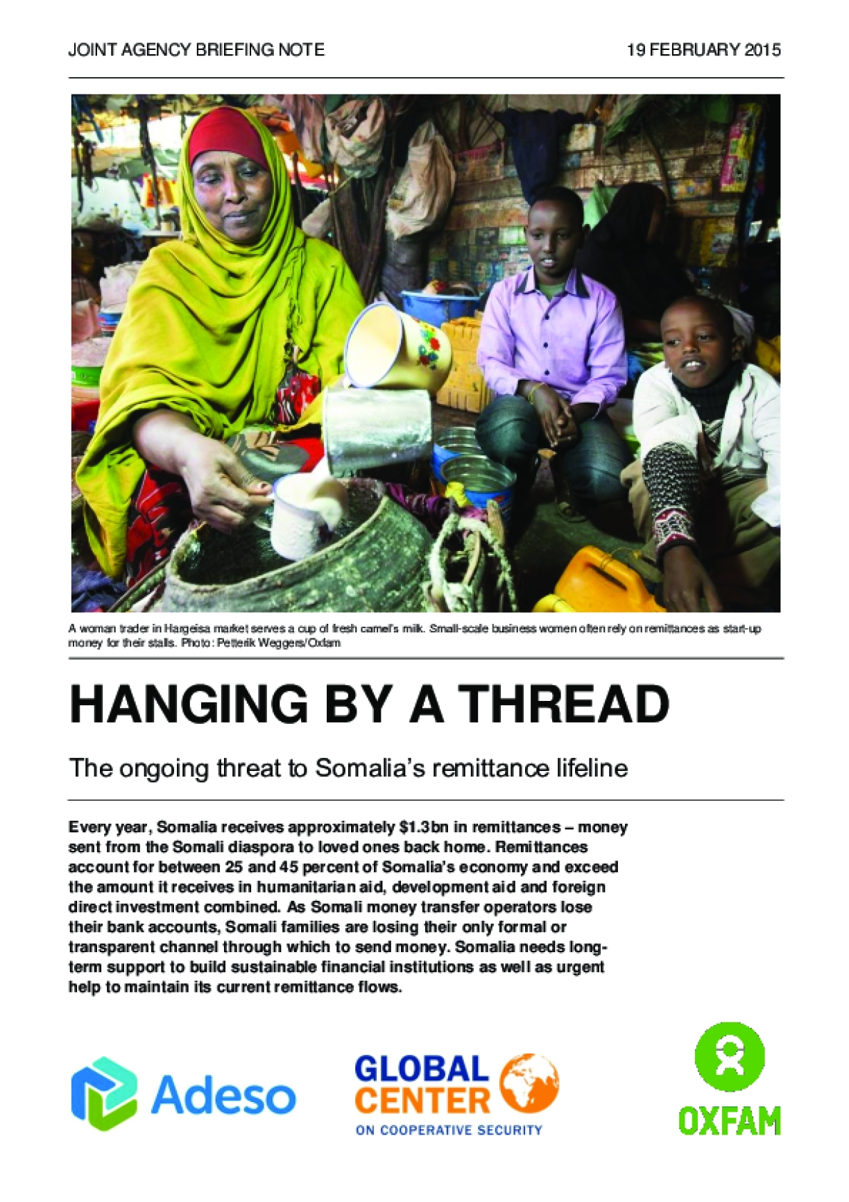 Hanging by a Thread: The Ongoing Threat to Somalia's Remittance Lifeline
