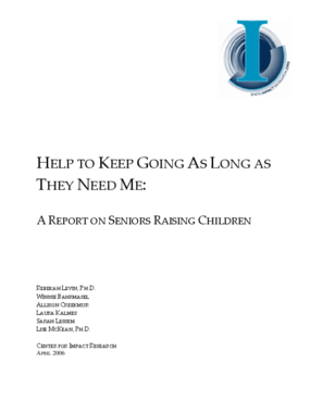 Help to Keep Going as Long as They Need Me: A Report on Seniors Raising Children