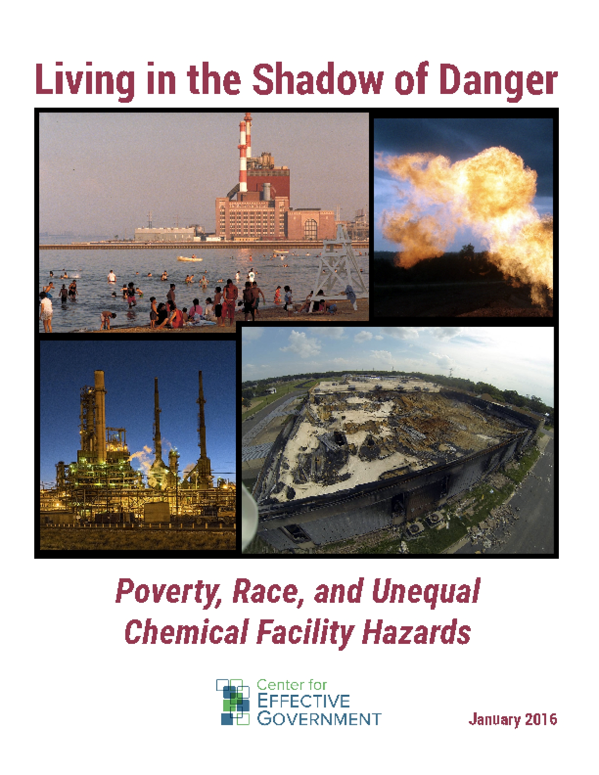 Living in the Shadow of Danger: Poverty, Race, and Unequal Chemical Facility Hazards