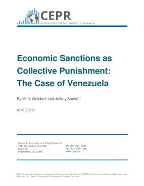 Economic Sanctions as Collective Punishment: The Case of Venezuela