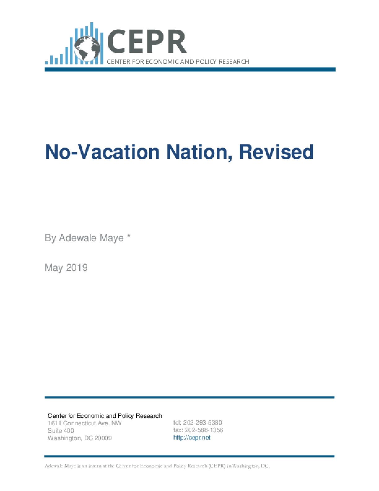 No-Vacation Nation, Revised