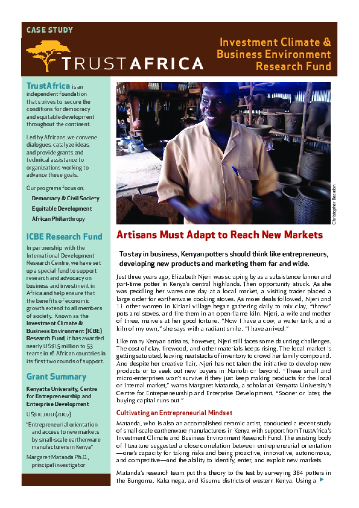 Artisans Must Adapt to Reach New Markets