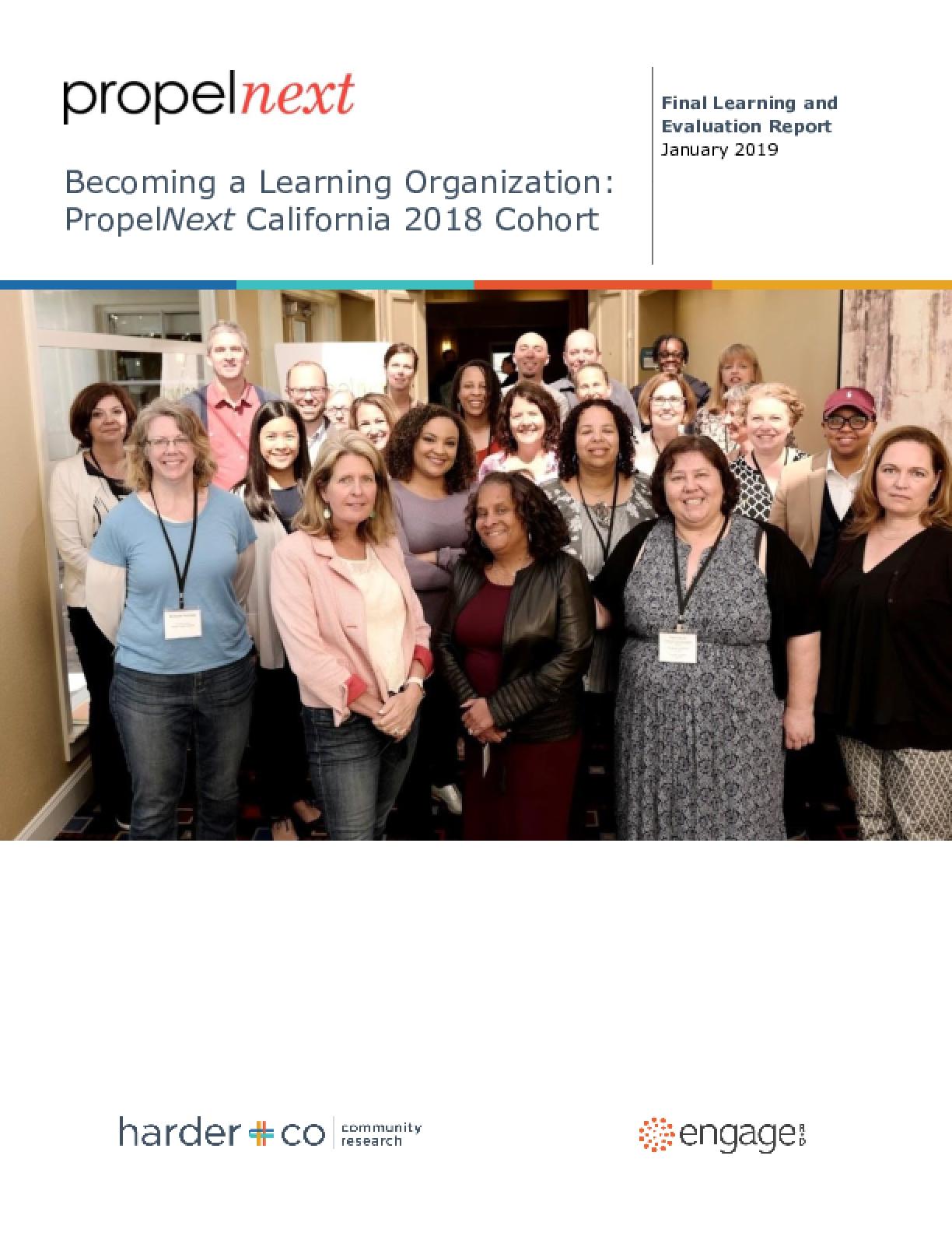 Becoming a Learning Organization: PropelNext California 2018 Cohort