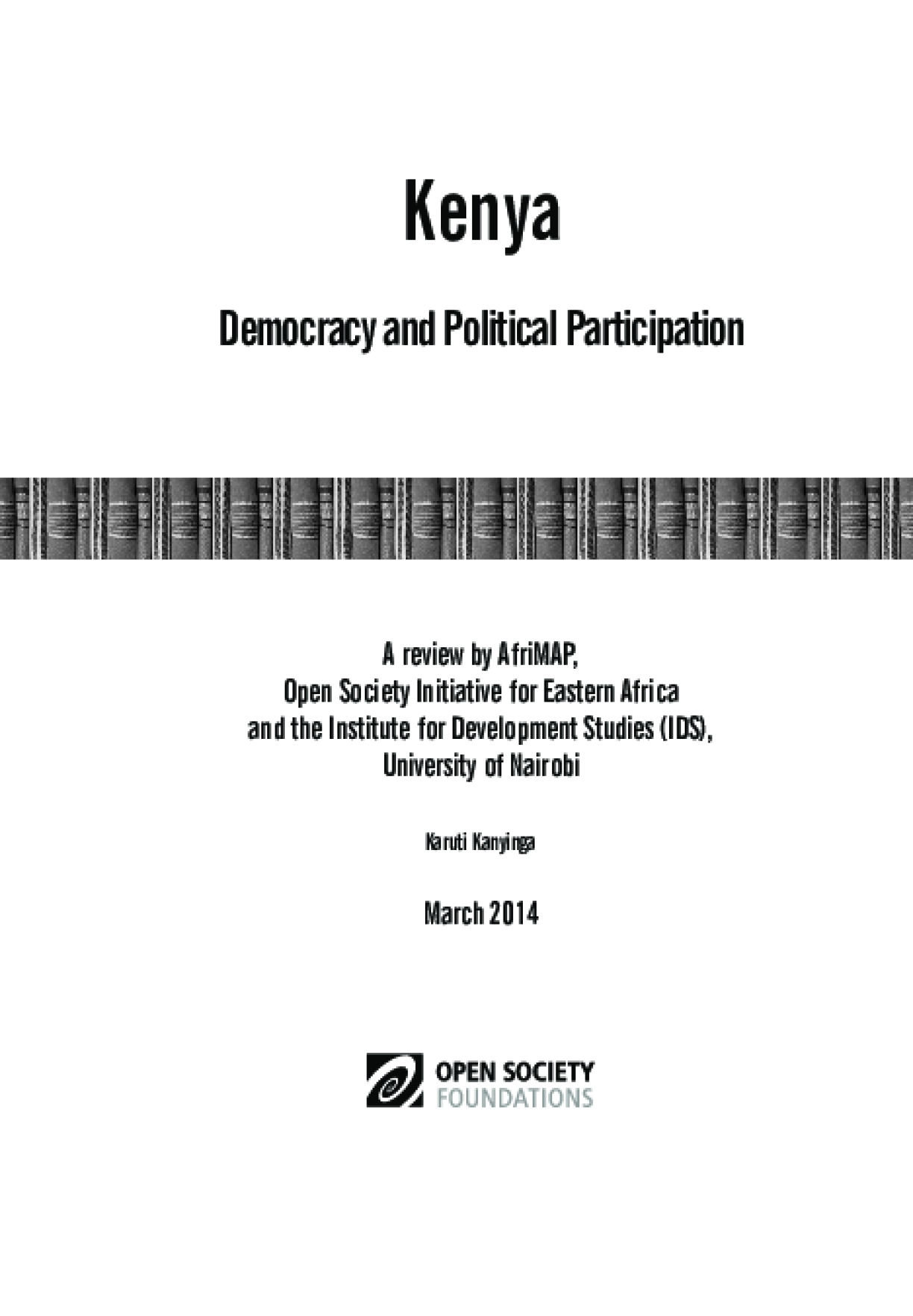 Kenya: Democracy and Political Participation
