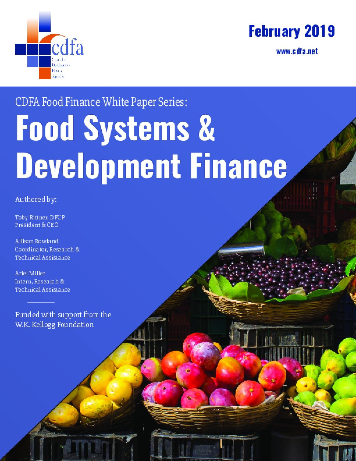 Food Systems & Development Finance