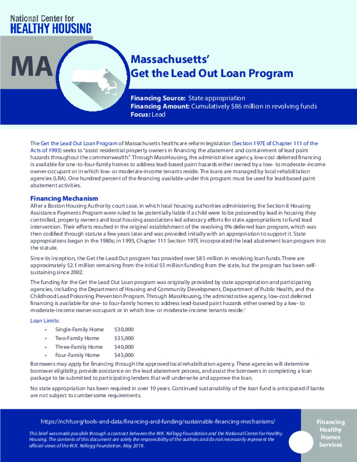 Massachusetts' Get the Lead Out Loan Program