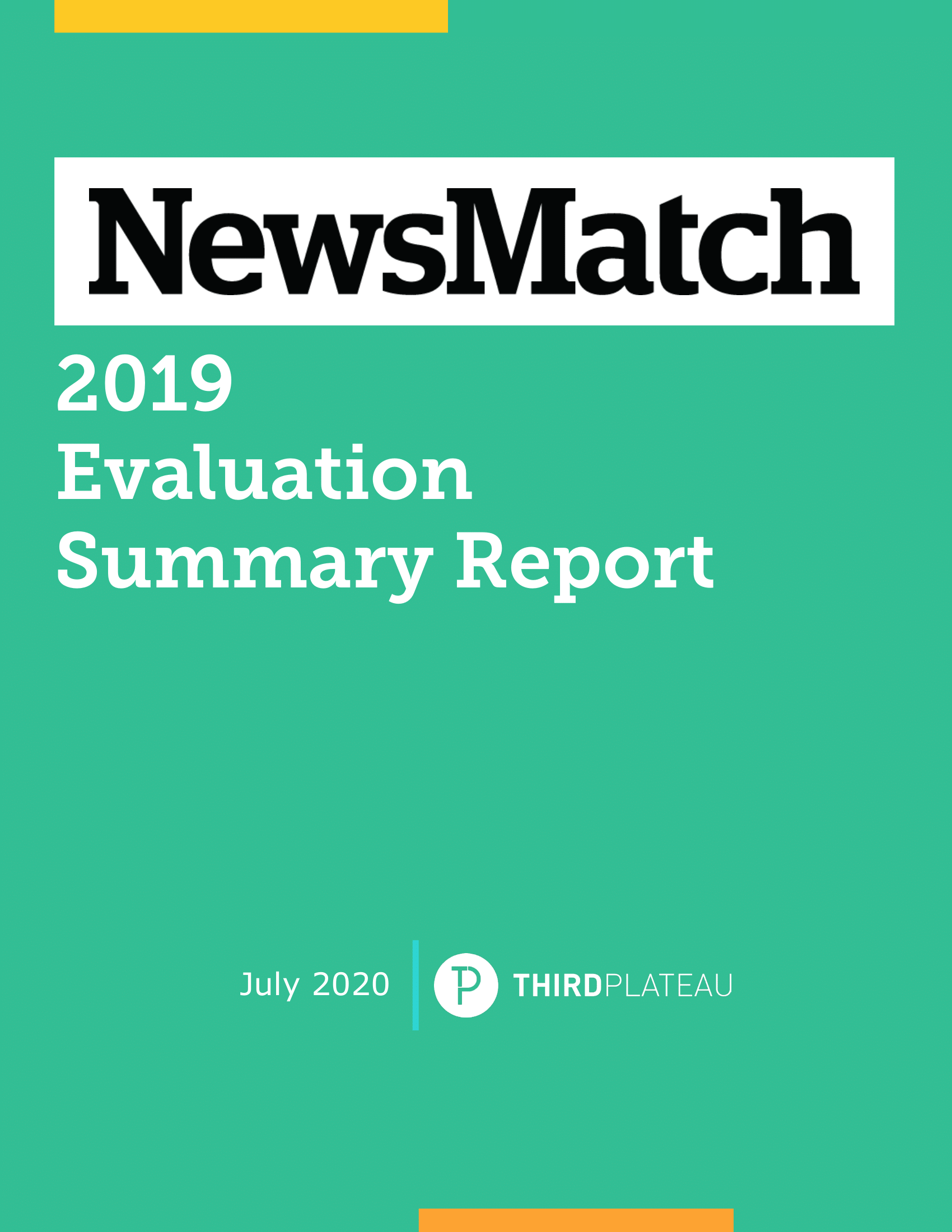 NewsMatch 2019 Evaluation Summary Report