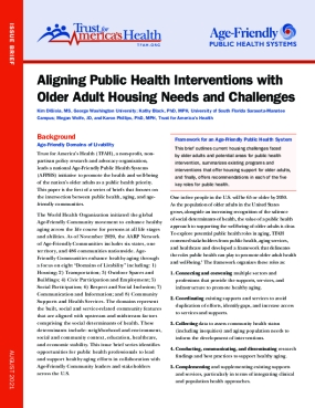 Aligning Public Health Interventions with Older Adult Housing Needs and Challenges