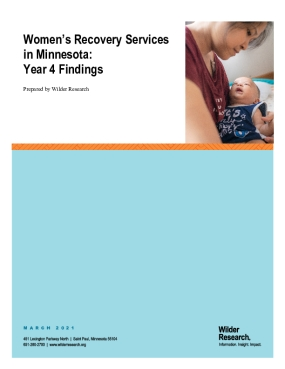 Women's Recovery Services in Minnesota: Year 4 Findings
